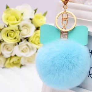💙 JUST IN 💙 Bow Pom Pom Bag Charm Key Ring